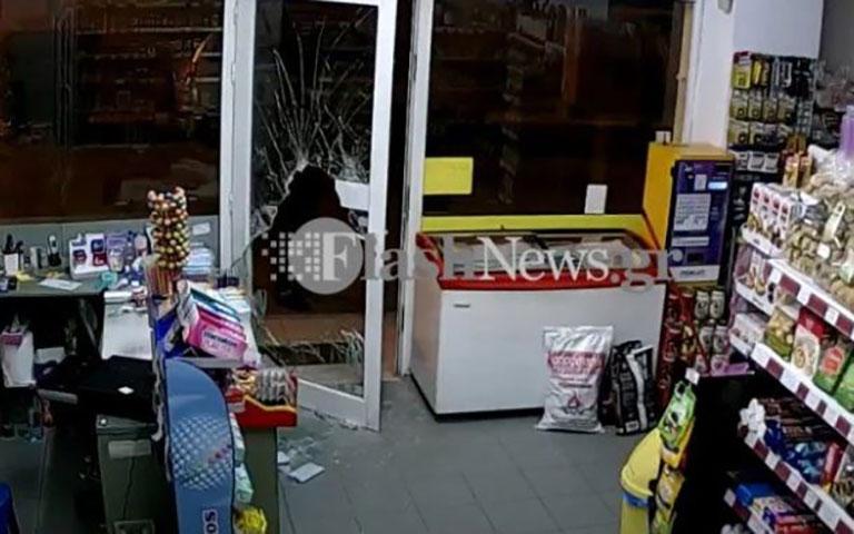 Κινηματογραφική διάρρηξη σε κατάστημα, στα Χανιά