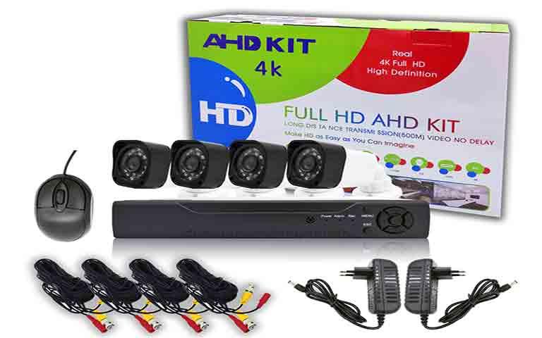 Οικονομικό σετ 4 κάμερες με Διαδικτυακό Cloud Kαταγραφικό DVR FULL AHD