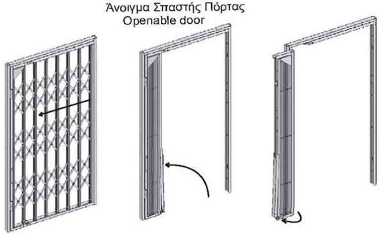 Πτυσσόμενα Κάγκελα Ασφαλείας με Περιστροφή από την legnodoors